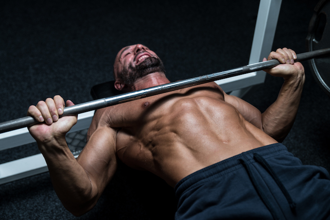 bench press with feet up