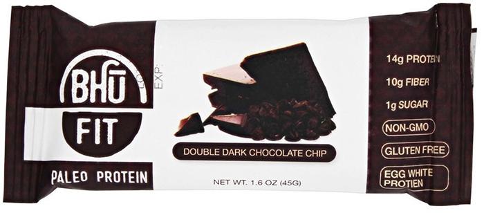 Bhu Foods - Paleo Protein Bar - Double Dark Chocolate Chip