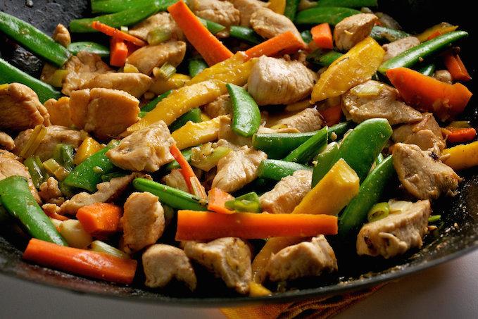 chicken stir fry with peanut sauce