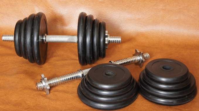 home gym dumbbells