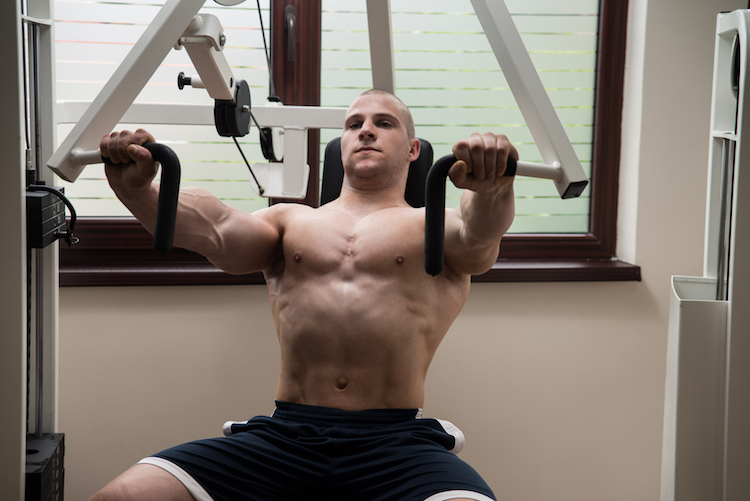 Chest Press At Gym