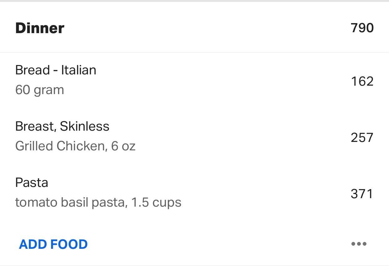 chicken and pasta dinner