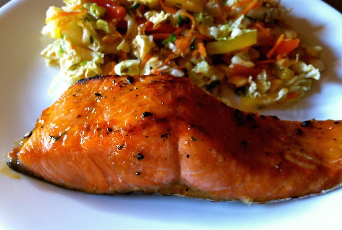 Broiled Salmon With Thai Sweet Chili Sauce Caliber Fitness